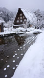 Historic Village of Shirakawa-go in winter Stock Photos