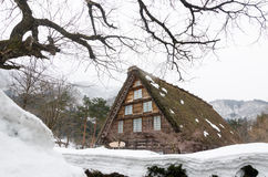 Historic Village of Shirakawago, Gifu, Japan Royalty Free Stock Images