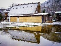 Shirakawago Historic Village in Gifu, Japan. Historic Village of Shirakawago at winter in Gifu, Japan Royalty Free Stock Images