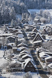 Historic Village of Shirakawago in winter, Japan Stock Photo