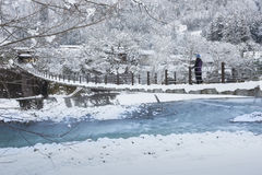Historic Village of Shirakawago in winter, Japan Royalty Free Stock Photo