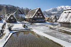 Historic Village of Shirakawago in winter, Japan Royalty Free Stock Photography