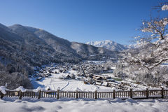 Historic Village of Shirakawago in winter, Japan Royalty Free Stock Image