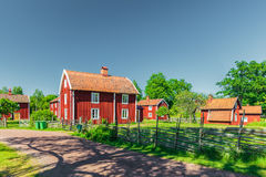 Historic village in Sweden Royalty Free Stock Photos