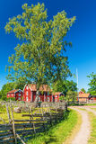 Historic village in Sweden Stock Photo