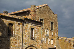 The historic village in tuff of Sovana Royalty Free Stock Photo