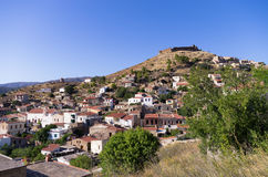The historic village of Volissos, in Chios island, Greece Stock Photography