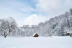 Free Historic Villages Of Shirakawa-go, Japan In Snowy Day. Royalty Free Stock Images - 105151279