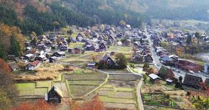 Historic Villages of Shirakawa-gand Gokayama stock footage
