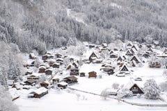 Historic Villages of Shirakawa-go and Gokayama, Japan. Winter in Shirakawa-go, Japan. Royalty Free Stock Photo