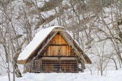 The historic villages of Shirakawa-go in winter , a World Cultur. Al Heritage site in Gifu Prefecture, Japan Stock Photo