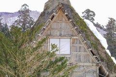 The historic villages of Shirakawa-go in winter , a World Cultur. Al Heritage site in Gifu Prefecture, Japan Stock Images