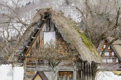 The historic villages of Shirakawa-go in winter , a World Cultur. Al Heritage site in Gifu Prefecture, Japan Royalty Free Stock Images