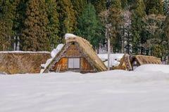 The historic villages of Shirakawa-go in winter , a World Cultur. Al Heritage site in Gifu Prefecture, Japan Stock Photos