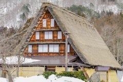 The historic villages of Shirakawa-go in winter , a World Cultur. Al Heritage site in Gifu Prefecture, Japan Royalty Free Stock Photo