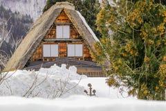 The historic villages of Shirakawa-go in winter , a World Cultur. Al Heritage site in Gifu Prefecture, Japan Stock Image