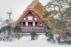 The historic villages of Shirakawa-go in winter , a World Cultural Heritage site in Gifu , Japan. The historic villages of Shirakawa-go in winter , a World stock images