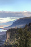 Historic Vista House at Crown Point. Overlooking Columbia Gorge Stock Images