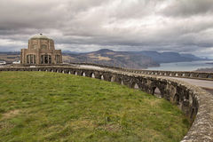 Historic Vista House on Crown Point in Oregon. Historic Vista House on Crown Point on Columbia River Gorge in Oregon Royalty Free Stock Image