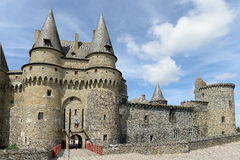 Historic Vitre Castle. Historic, medieval castle called Vitre Castle or Chateau de Vitre, Vitre, France Stock Photography