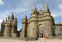 Historic Vitre Castle Stock Images