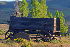 Historic Wagon. This wagon is at a old Ranch not far from my house it was in good shape for how old it is Stock Photo