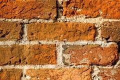Historic wall of red bricks Royalty Free Stock Photography