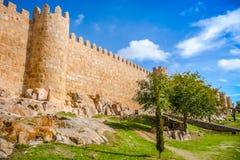 Historic walls of Avila, Castilla y Leon, Spain Stock Images