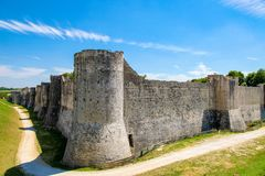 Historic Walls of Provins, Seine et Marne, France royalty free stock photos