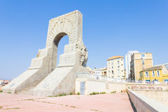 Historic War Monument in Marseilles Stock Photography