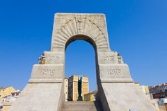 Historic War Monument in Marseilles, France Royalty Free Stock Images