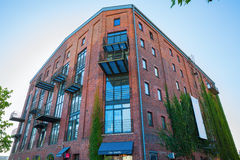Historic warehouse in the waterfront Muenster, Germany Stock Images