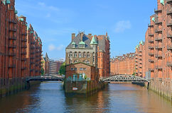 Historic warehouses. In HAmburg harbour, Germany stock photos