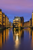 Historic warehouses in Hamburg Stock Photo