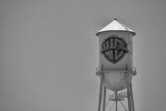 Historic Warner Bros water tower Royalty Free Stock Photo