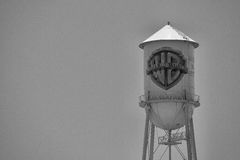 Historic Warner Bros water tower Stock Photo
