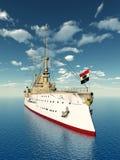Historic Warship Stock Photo