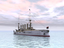 Historic Warship Royalty Free Stock Photos