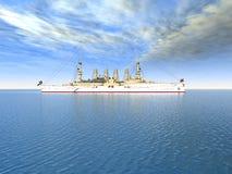 Historic Warship Royalty Free Stock Photography