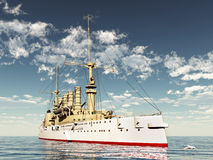Historic Warship Royalty Free Stock Image
