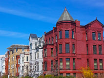 Historic Washington DC rowhouses in spring. Royalty Free Stock Photography