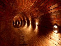 Channel Museum Dętka. Tube Museum, located under Plac Wolnica Liberty Square in the renovated sewage system Lodz Poland Royalty Free Stock Images