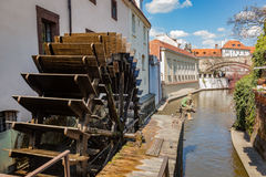 Historic water mill on Kampa Island in Prague, Czech Republic. Stock Image