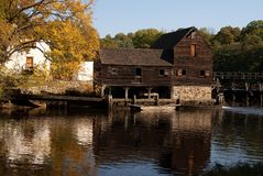 Historic water mill, Philipsburg Manor, NY Stock Photo