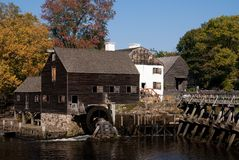Historic water mill, Philipsburg Manor, NY Stock Photos