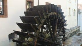 Historic Water Mill in Prague, Czech republic stock video footage