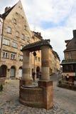 Historic water well near Tiergartnertor tower in Nuremberg Stock Images