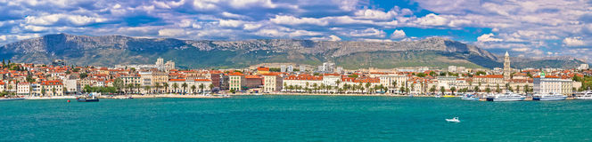 Historic waterfront of Split colorful panorama Stock Photo