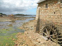 Historic Watermill. On the island of Brehat in France Royalty Free Stock Image