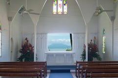 Historic Wedding Chapel Interior Stock Image